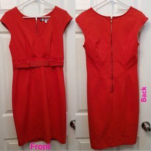NEW sleeveless Jennifer Lopez Red/Orange Dress